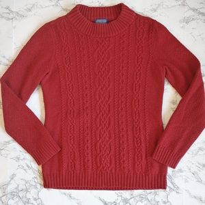 Pendleton Red Mock Turtleneck Sweater